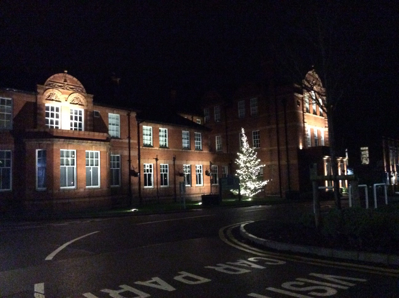 MMU Cheshire was resplendent in Christmas lights